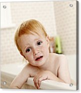 Bathing Child Acrylic Print