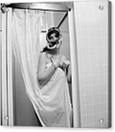 Bathroom Diving Acrylic Print by Sherman