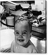 Bathtub Baby Acrylic Print by L J Willinger