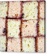 Battenburg Cake Acrylic Print