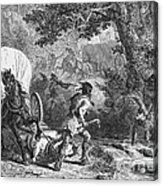 Battle Of Bloody Brook 1675 Acrylic Print