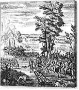 Battle Of Malplaquet, 1709 Acrylic Print