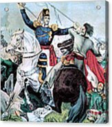 Battle Of Veracruz, Mexican-american Acrylic Print