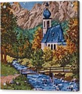 Bavarian Country Acrylic Print by M and L Creations Craft Boutique