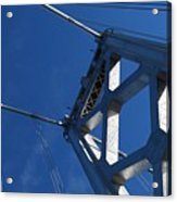 Bay Bridge And Blue Sky, San Francisco Acrylic Print by Jamie Jennings www.JJphotos.ca