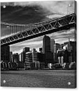 Bay Bridge And San Francisco Downtown Acrylic Print