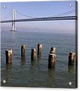 Bay Bridge On A Clear Day Acrylic Print