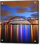 Bayonne Bridge Acrylic Print by Paul Ward