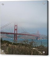 Be In A Mist - Golden Gate Bridge Acrylic Print