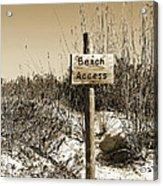 Beach Access Acrylic Print