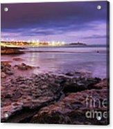 Beach At Dusk Acrylic Print
