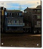 Beach Buildings - Greeting Card Acrylic Print