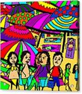 Beach Chat Acrylic Print