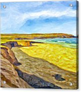 Beach Cliffs South Of San Onofre Acrylic Print