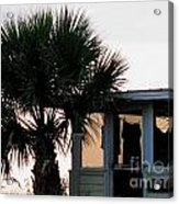 Beach Cottage Clothesline Acrylic Print