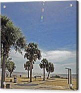 Beach Day After Issac  Acrylic Print