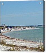 Beach Day On Honeymoon Island Acrylic Print