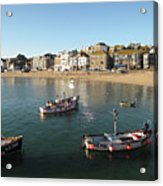 Beach Front, St Ives, Cornwall Acrylic Print