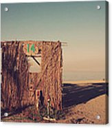 Beach Hut Number Fourteen Acrylic Print by Laurie Search