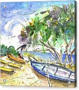 Beach In Ayia Napa Acrylic Print