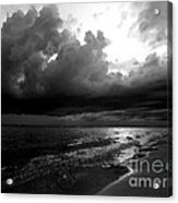 Beach In Black And White Acrylic Print