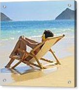 Beach Lounger II Acrylic Print