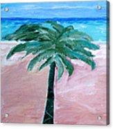 Beach Palm Acrylic Print