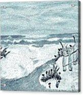 Beach Seashore Abstract Acrylic Print by Marsha Heiken