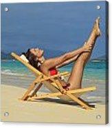 Beach Stretches Acrylic Print