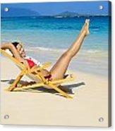 Beach Stretching Acrylic Print