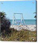 Beach Swing Acrylic Print