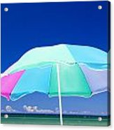 Beach Umbrella At The Shore Acrylic Print