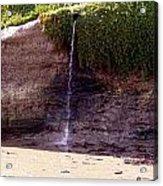Beach Waterfall Acrylic Print