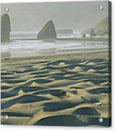 Beach With Dunes And Seastack Rocks Acrylic Print