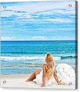Beach Woman Acrylic Print