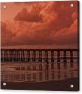 Beachcombing At Oceanside Pier Acrylic Print