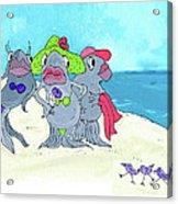 Beached Ladies Acrylic Print