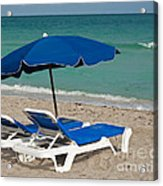 Beachtime Acrylic Print by Barbara McMahon