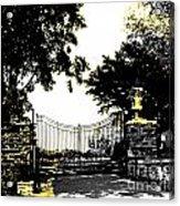 Beacon Rock Gate Newport Ri Acrylic Print