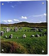 Beaghmore Stone Circles, Co. Tyrone Acrylic Print by The Irish Image Collection