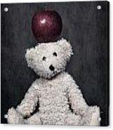 Bear And Apple Acrylic Print