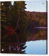 Bear Creek Lake In The Poconos Acrylic Print