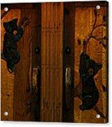 Bear Doors Carved Acrylic Print