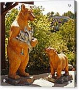 Bears At Taprock Acrylic Print