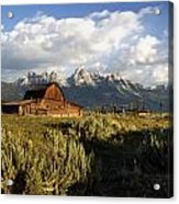 Beautiful Barn Grand Teton  Acrylic Print