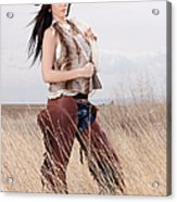 Beautiful Cowgirl Acrylic Print