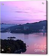 Beautiful Dawn At Sun Moon Lake Acrylic Print