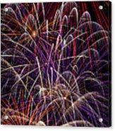 Beautiful Fireworks Acrylic Print by Garry Gay