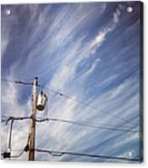 Beautiful Sky This Morning Acrylic Print by Katie Cupcakes