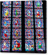 Beautiful Stained Glass At Notre Dame Cathedral Acrylic Print